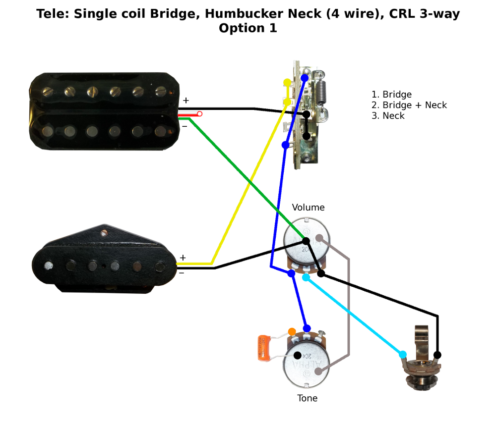 Fender Hss 1 Push Pull Volume Tone Wiring Diagrams Images Gallery Humbucker Single Coil Diagram Library