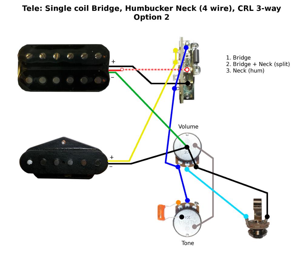 Telecaster Wiring Diagram Humbucker from www.buildyourownguitar.com.au