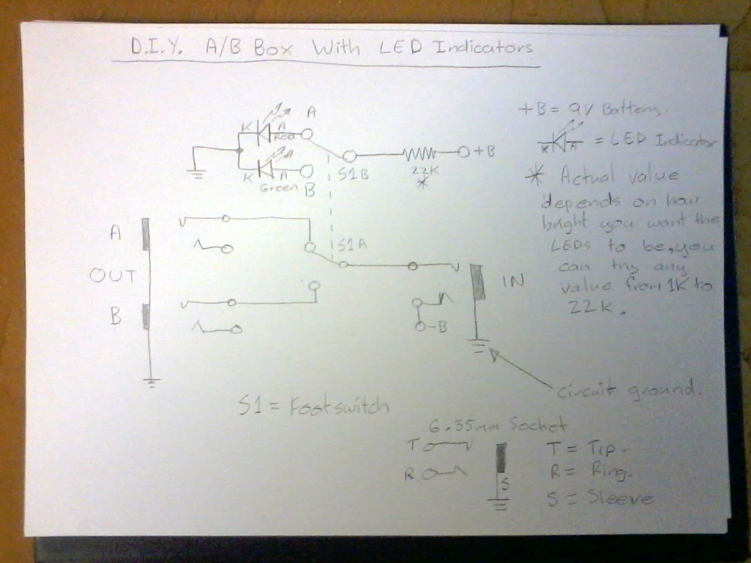 Diy A B Box Page 2 Ab Guitar Wiring Diagram Name Schematic Resized Views 36